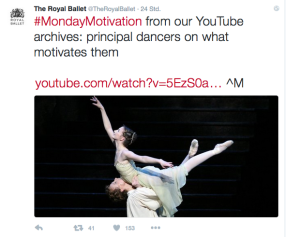 RoyalBallet tweet